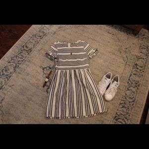 Madewell stripe linen dress